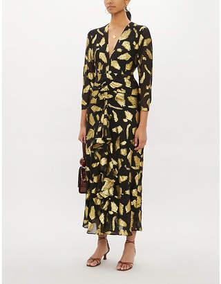Rixo Rose silk and metallic dress