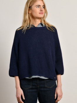Mat De Misaine - Navy Tijola Jumper with Button Detail Back - 10