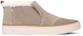Toms Beige Suede and Faux Fur Women's Paxton Slip-Ons