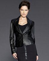Cropped & Shrunken Leather Blazer by Shape fx®