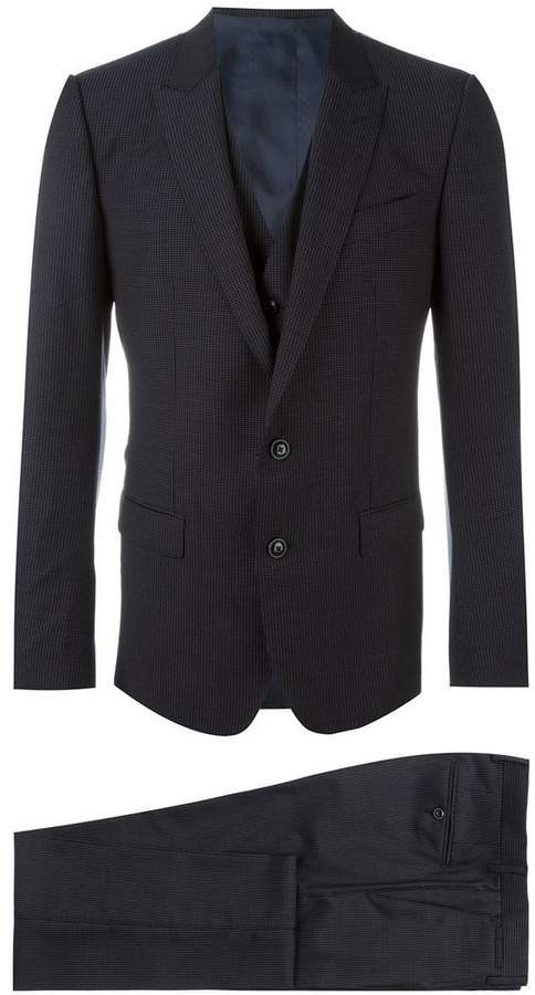 Dolce & Gabbana three piece micro dots suit