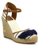 Tory Burch Shaw Striped Wedge Espadrilles