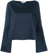 Tibi bell sleeve top - women - Cotton - 8