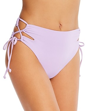 L-Space Pacey Cutout High-Waist Bikini Bottom