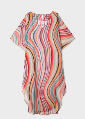Paul Smith Women's Sheer 'Swirl' Print Silk Tunic