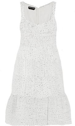 Rochas Ruched Organza-boucle Dress