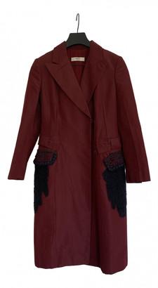 Prada Burgundy Polyester Coats