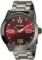 Nixon Men's A3462073-00 Corporal SS Analog Display Japanese Quartz Silver Watch