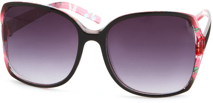 Charlotte Russe Oversized Floral Ombre Shades