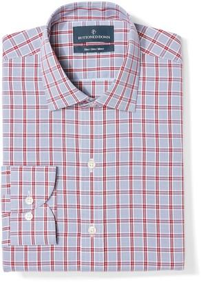 Buttoned Down Men's Slim Fit Spread-Collar Non-Iron Dress Shirt