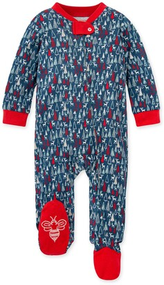 Burt's Bees Forest Frenzy Organic Baby Loose Fit Footed Holiday Pajamas