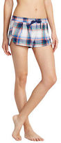 Aeropostale Womens Lld Plaid Flannel Shorts Ivory