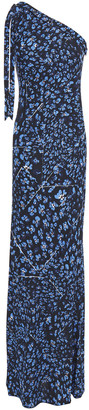 Missoni One-shoulder Knotted Floral-print Crepe Gown