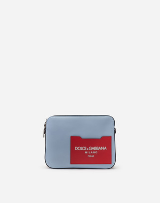 Dolce & Gabbana Jamaica Clutch In Mixed Materials With Printed Logo