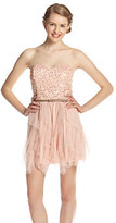 Amy Byer A Byer A. Byer Juniors' Strapless Sequin Party Dress