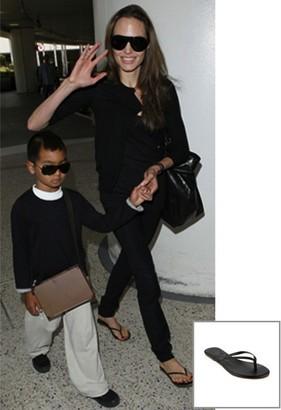 Singer22 Liner Leather Sandal As Seen On Angelina Jolie