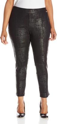 Calvin Klein Women's Plus-Size Embossed Ponte Legging