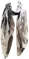 Funky Junque Funky Junque's Vintage Faded Stars & Stripes USA Flag Rectangle Scarf Wrap