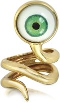 Forzieri Bernard Delettrez Bronze Snake Ring With Eye