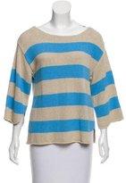By Malene Birger Linen-Blend Striped Sweater w/ Tags