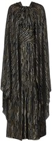 Peter Pilotto Black lame-weave cape-effect gown