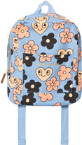 Mini Rodini Light Blue Floral Backpack