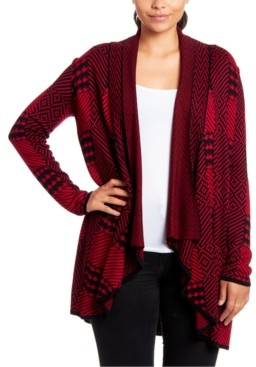 Joseph A Printed Open-Front Cardigan