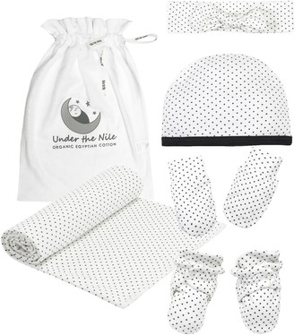 Under the Nile Polka Dot Panda 5-Piece Organic Cotton Gift Set