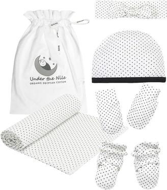 Under the Nile Polka Dot Panda 5-Piece Organic Cotton Gift Set