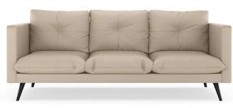 Omorfo Sofa Latitude Run Fabric: Ivory, Leg Color: Black