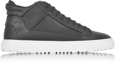Etq Amsterdam Mid 2 Black Rubberized Canvas Men's Sneaker
