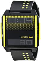 """Vestal Men's DIG031 """"Digichord"""" Digital Display Watch with Yellow and Black Band"""