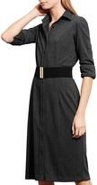 Lauren Ralph Lauren Petites Herringbone Shirt Dress