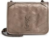 Saint Laurent Niki Metallic Leather Wallet on a Chain