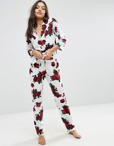 Asos Romantic Rose Traditional Pajama Set