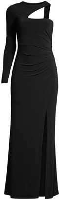 BCBGMAXAZRIA Asymmetric One-Shoulder Gown
