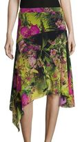 Fuzzi Tropical Floral-Print Skirt