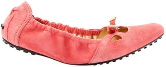 Tod's Pink Suede Ballet flats