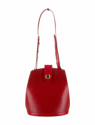 Louis Vuitton Vintage Epi Cluny Bucket Bag Red