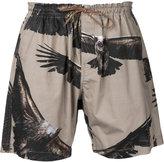 Yoshio Kubo eagle print shorts - men - Cotton - 1