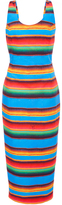 Stella Jean Alchimista Cotton Striped Tube Dress
