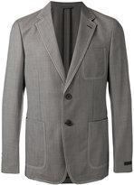 Prada contrast stitch blazer
