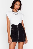 Nasty Gal Womens V Are the Champions Denim Mini Skirt - black - 6
