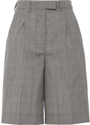 Prada Prince Of Wales Knee Shorts