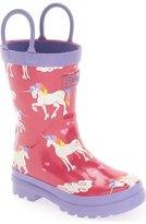 Hatley 'Unicorns & Rainbows' Waterproof Rain Boot (Walker, Toddler & Little Kid)