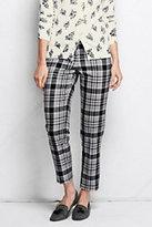 Classic Women's Petite Wear to Work Slim Leg Pants-Gray Plaid