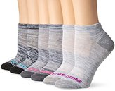 Skechers Women's 6 Pack Non Terry Low Cut Sock