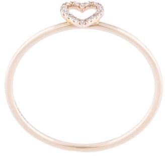 Loquet 18kt Yellow Gold Diamond Heart Ring