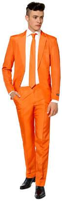 Suitmeister Men Solid Orange Color Suit