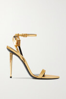 Thumbnail for your product : Tom Ford Padlock Metallic Leather Sandals - Gold